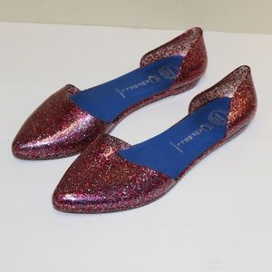 Jeffrey Campbell D'Orsay Jelly Flats Size 8 Pink